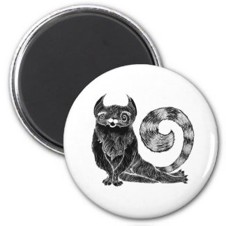Gato de lujo imán redondo 5 cm