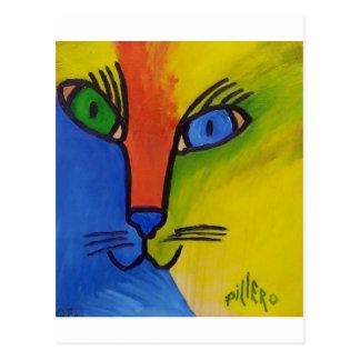 Gato de madera por Piliero Tarjeta Postal