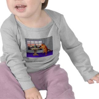Gato de Menorah Camisetas
