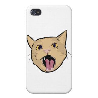 Gato de MOAR iPhone 4 Carcasas