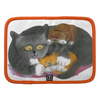 Gato de Momma y sus dos gatitos Planificadores