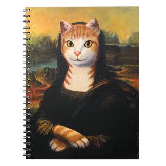 Gato de Mona Lisa Libro De Apuntes Con Espiral