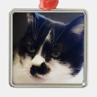 Gato de Monty Adorno Navideño Cuadrado De Metal