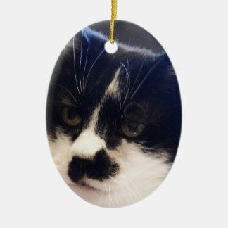 Gato de Monty Adorno Navideño Ovalado De Cerámica