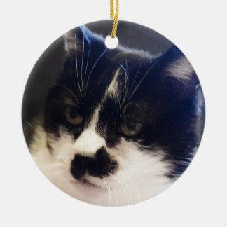 Gato de Monty Adorno Navideño Redondo De Cerámica