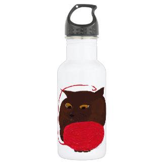 Gato de ms La Habana Brown Botella De Agua De Acero Inoxidable