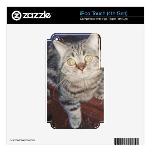 Gato de Napoleon Skins Para iPod Touch 4G