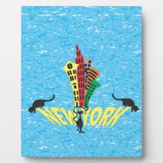 Gato de New York City Placas