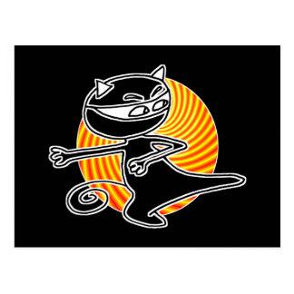 Gato de Ninja Postales