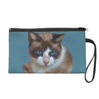 Gato de ojos azules, bolso del accesorio de Bagett