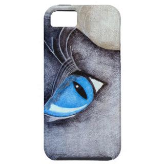 Gato de ojos azules iPhone 5 funda