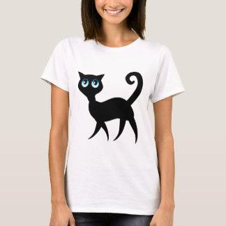 Gato de ojos azules playera