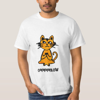 Gato de OM - camiseta divertida de la yoga Playeras