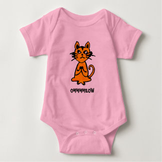 Gato de OM - ropa de la yoga del bebé Playeras