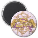 Gato de oro 3 de Supergirl Imanes De Nevera