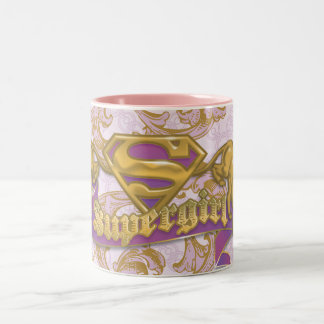 Gato de oro 3 de Supergirl Taza De Café De Dos Colores