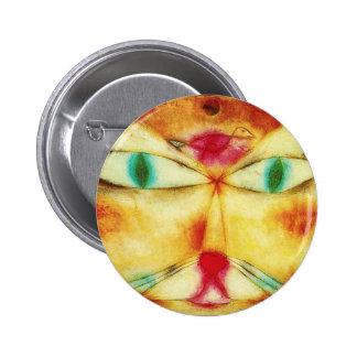 Gato de Paul Klee y botón del pájaro Pins