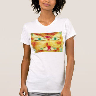 Gato de Paul Klee y camiseta del pájaro Playera