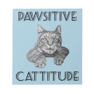 Gato de Pawsitive Cattitude Bloc De Papel