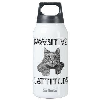Gato de Pawsitive Cattitude Botella Isotérmica De Agua