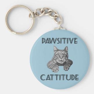 Gato de Pawsitive Cattitude Llaveros