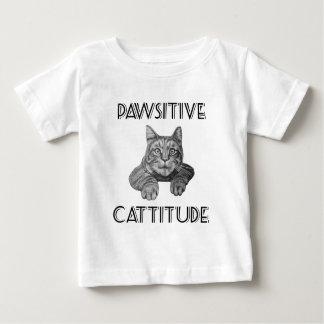 Gato de Pawsitive Cattitude Playera De Bebé