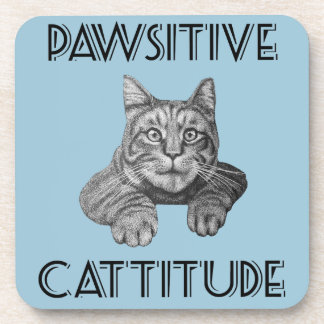 Gato de Pawsitive Cattitude Posavasos De Bebidas