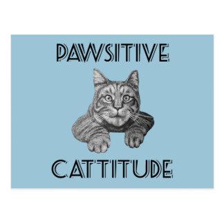 Gato de Pawsitive Cattitude Postal