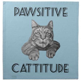 Gato de Pawsitive Cattitude Servilleta