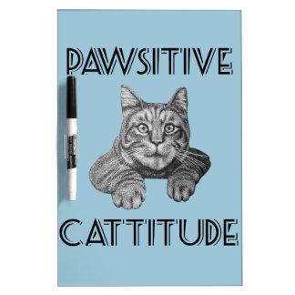 Gato de Pawsitive Cattitude Tablero Blanco