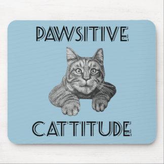 Gato de Pawsitive Cattitude Tapetes De Ratón