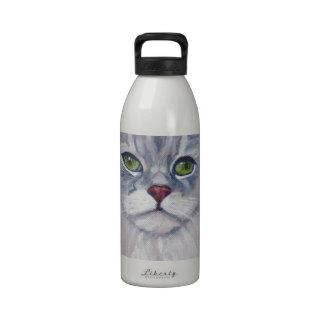 Gato de pelo largo nacional botella de agua