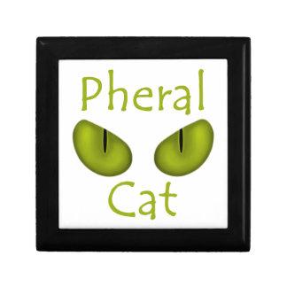 Gato de Pheral (ojos de la aceituna) Cajas De Recuerdo