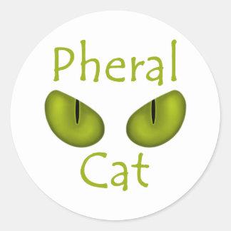 Gato de Pheral (ojos de la aceituna) Pegatina Redonda