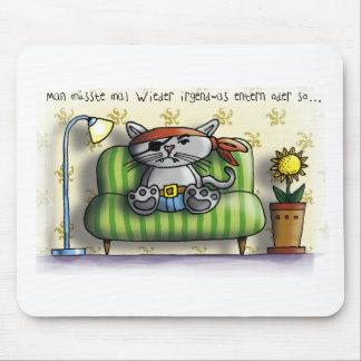 Gato de pirata couch tapetes de raton