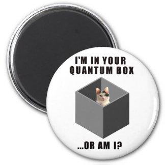 Gato de Quantum Imán De Frigorífico