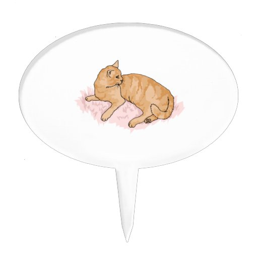 Gato de reclinación decoración de tarta