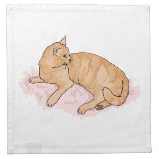 Gato de reclinación servilletas de papel