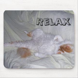 Gato de relajación tapetes de raton