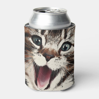 Gato de risa enfriador de latas