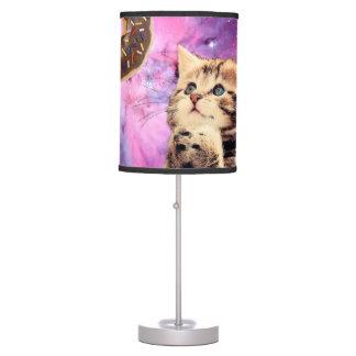 Gato de rogación del buñuelo lámpara de mesa
