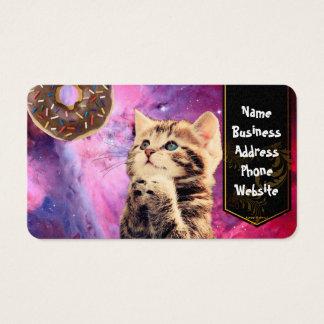Gato de rogación del buñuelo tarjetas de visita