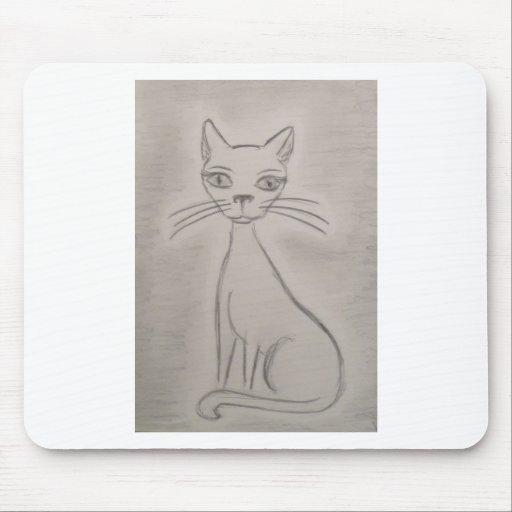 Gato de ronroneo alfombrillas de raton