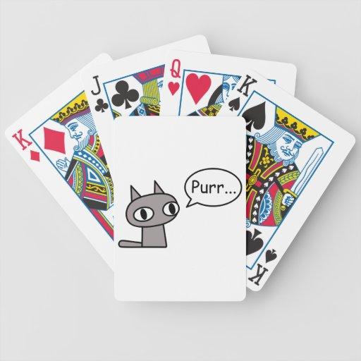Gato de ronroneo baraja de cartas