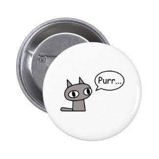 Gato de ronroneo pin