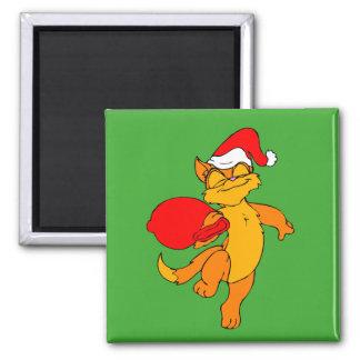 Gato de Santa del jengibre Imán Cuadrado