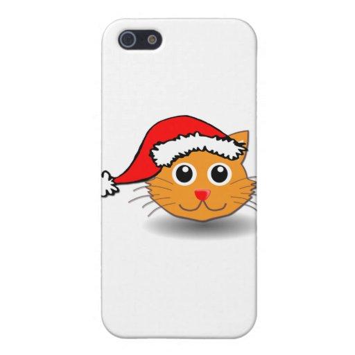 Gato de Santa iPhone 5 Carcasas