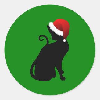 Gato de Santa Etiqueta Redonda