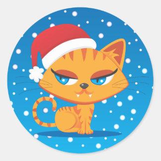 Gato de Santa Pegatina Redonda