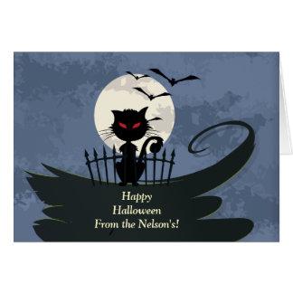 ¡Gato de Scaaary Halloween! Felicitaciones